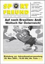 SPORT FREUND 2003/4
