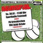 Faustball Bundesliga - Heimspiel am 30.01. in der Sporthalle Freistadt