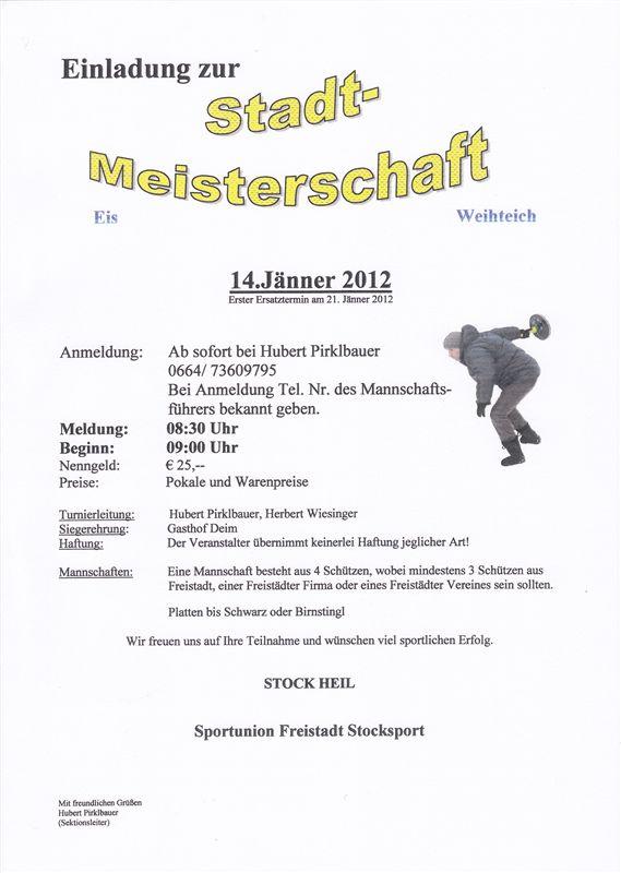 Ausschreibung EisSTM 2012