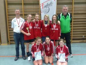 U14-Mädels erringten Bronze bei den Hallenlandesmeisterschaften