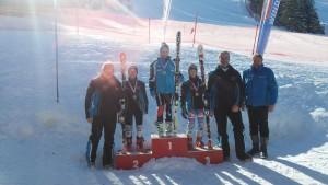 Siegerehrung bei den Schülerlandesmeisterschaften im Super-G in Hinterstoder